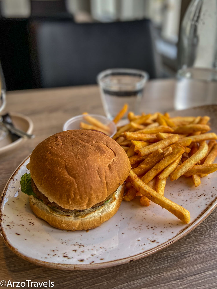 Vegan burger at Husafell Bistro in Iceland costs around 20€