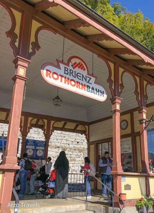 Brienzer Rothorn steam locomotive station