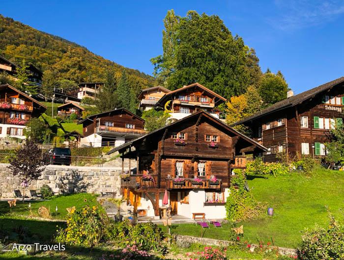 Little houses in Brienz