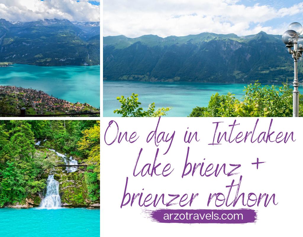 One day in Interlaken, Lake Brienz and Brienzer Rothorn