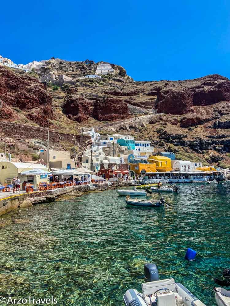 Ammoudi bay Santorini Arzo Travels