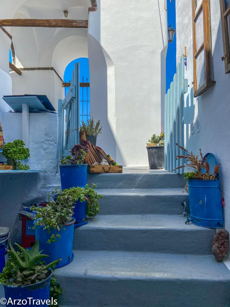 Houses in Pyrgos in Santorini, Greece with Arzo Travels
