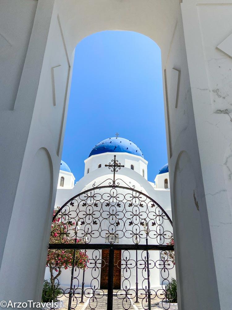 Perissa church Santorini Arzo Travels