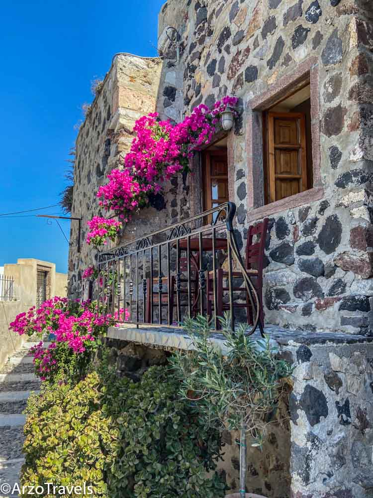 Pyrgos in Santorini.Arzo Travels