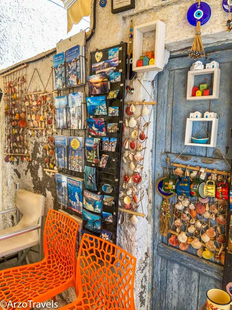 Souvenirs Pyrgos in Santorini, Greece with Arzo Travels