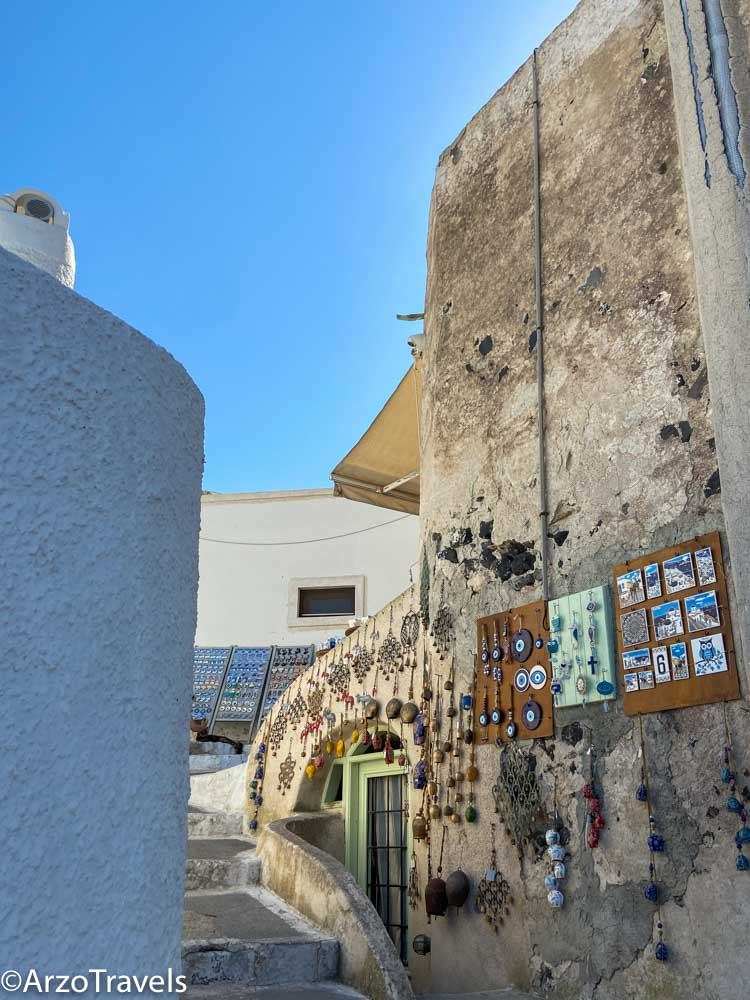 Streets in Pyrgos in Santorini, Greece with Arzo Travels