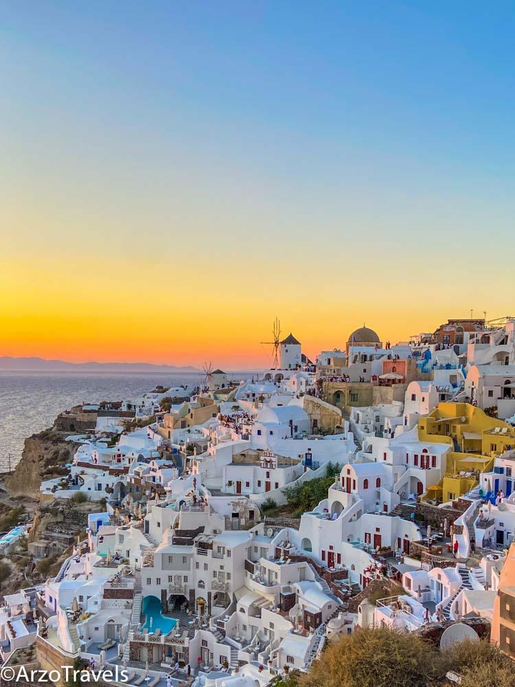 Sunset in Santorini Arzo Travels