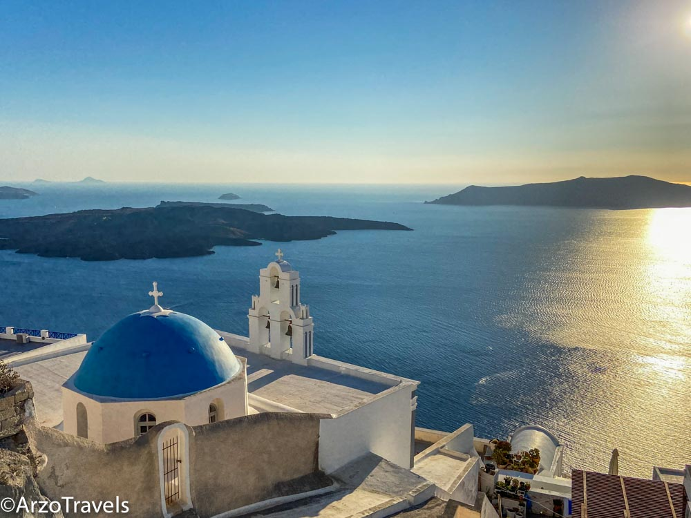 Sunsets in Santorini Arzo Travels