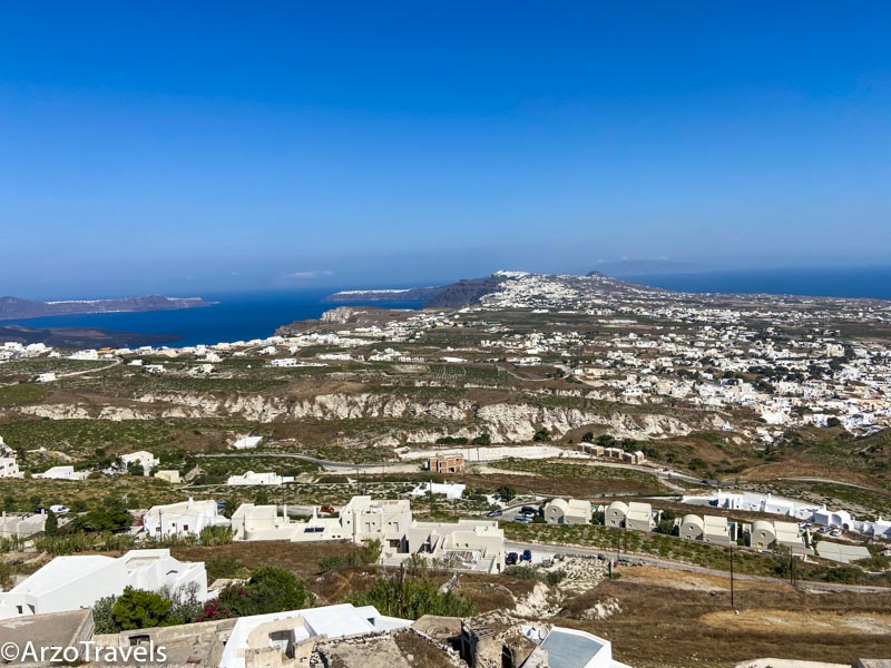 View from Pyrgos in Santorini, Greece Arzo Travels