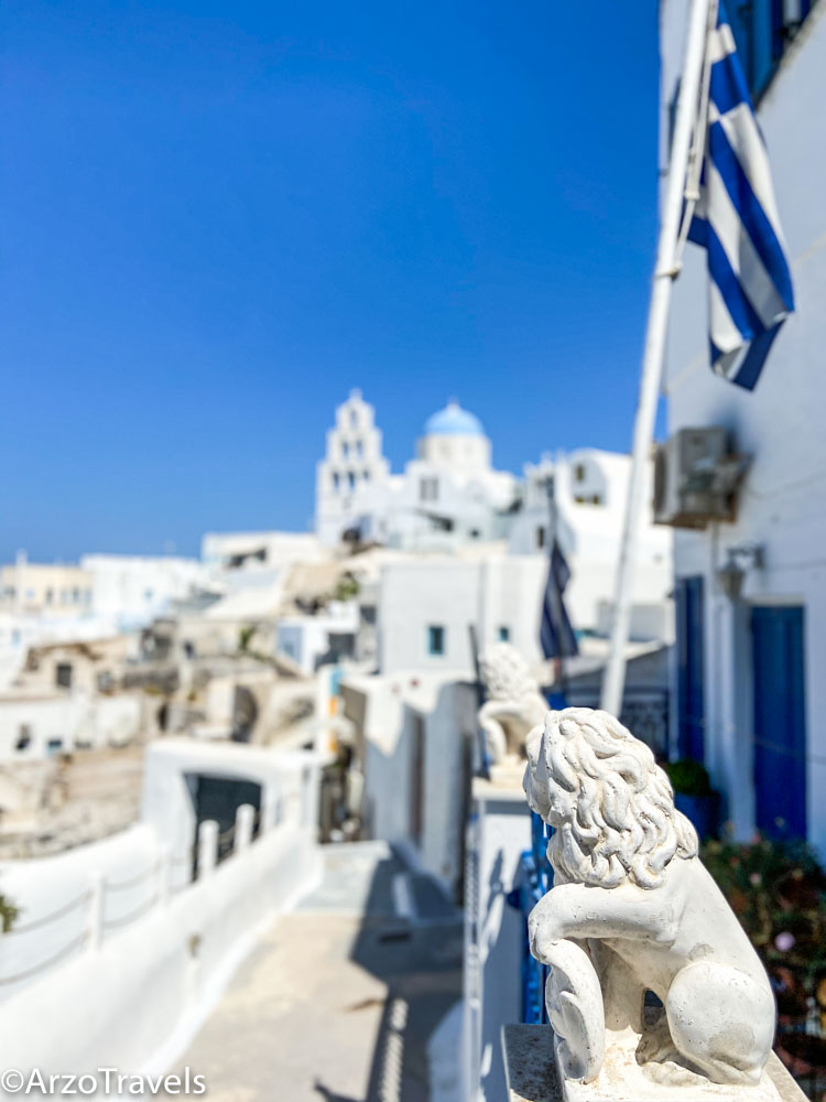 Views in Pyrgos in Santorini, Greece with Arzo Travels