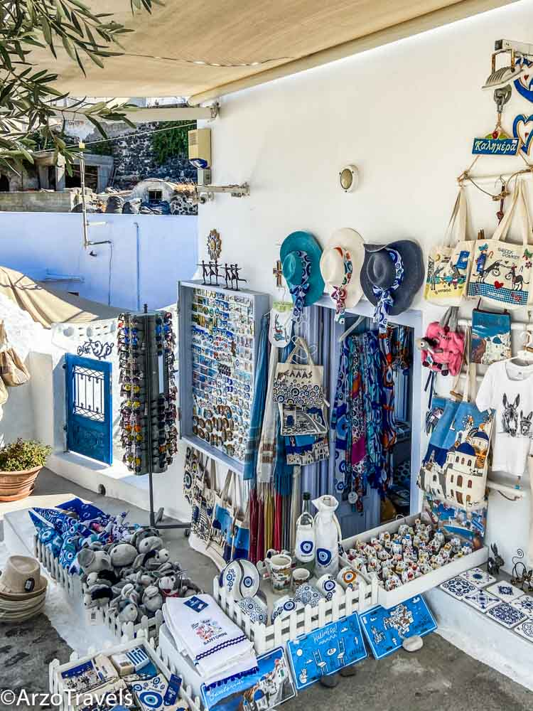 What to buy in Pyrgos in Santorini, Greece with Arzo Travels