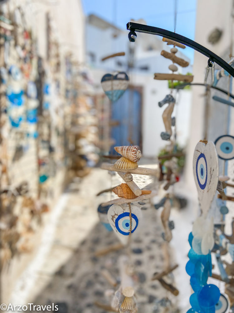 Where to buy in Pyrgos in Santorini, Greece with Arzo Travels