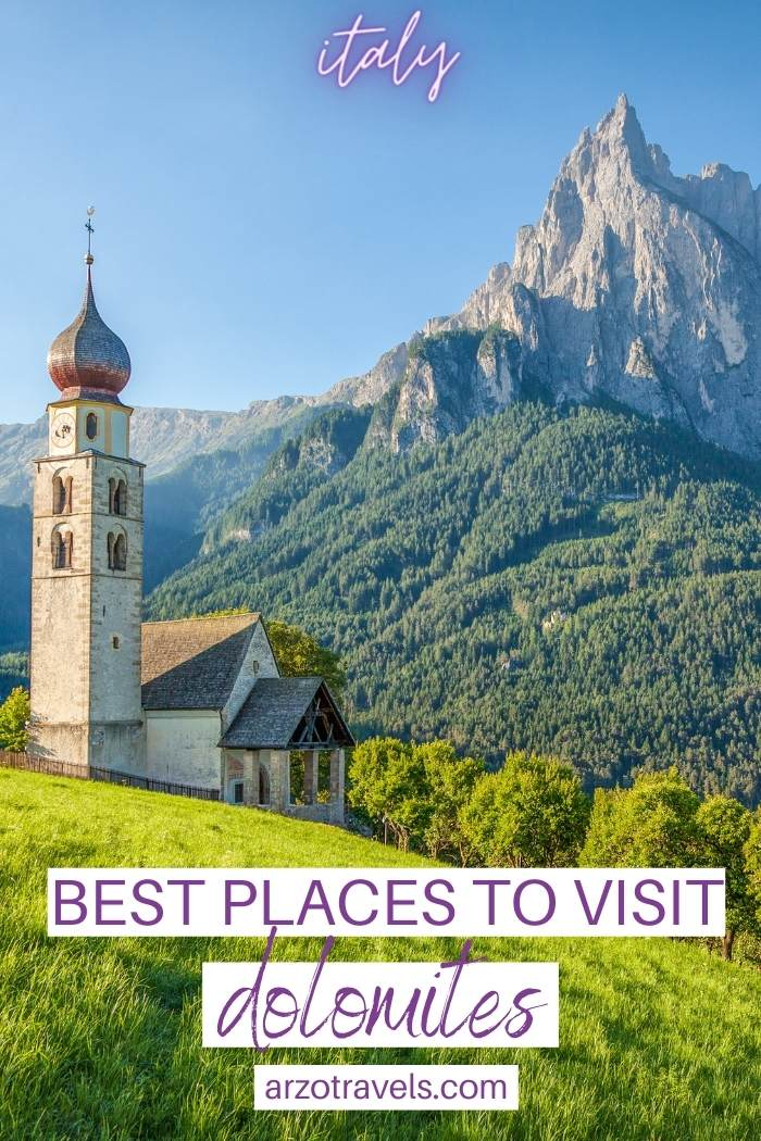 best places to visit in Dolomites, Italy, Arzo Travels