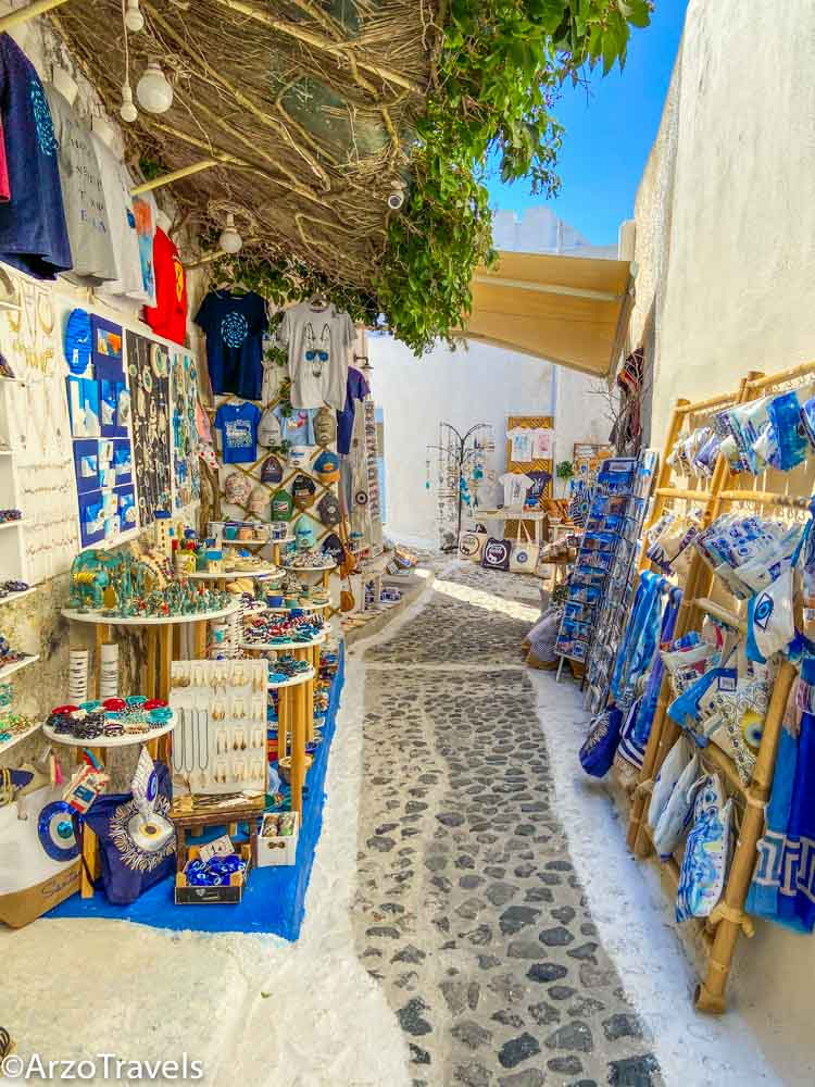 what to do in Pyrgos in Santorini, Greece with Arzo Travels