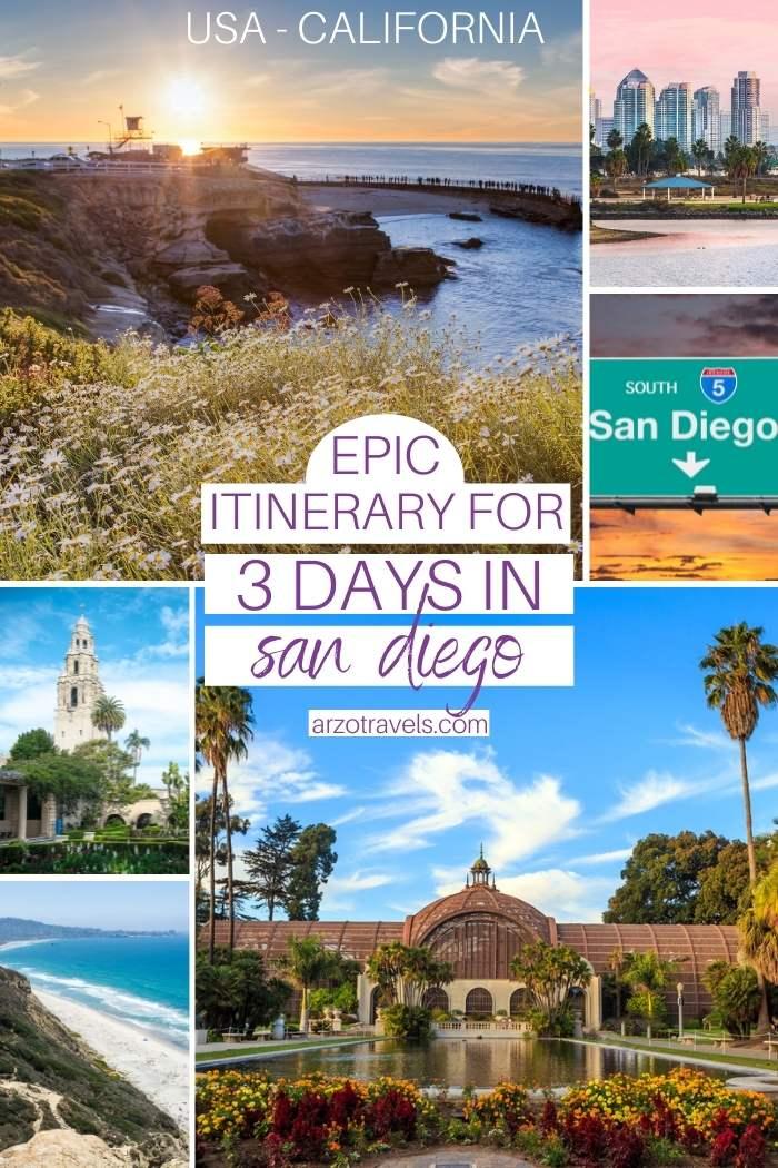 3-day San Diego itinerary, California USA, Arzo Travels