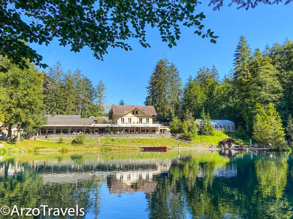Blausee hotel with Arzo Travels