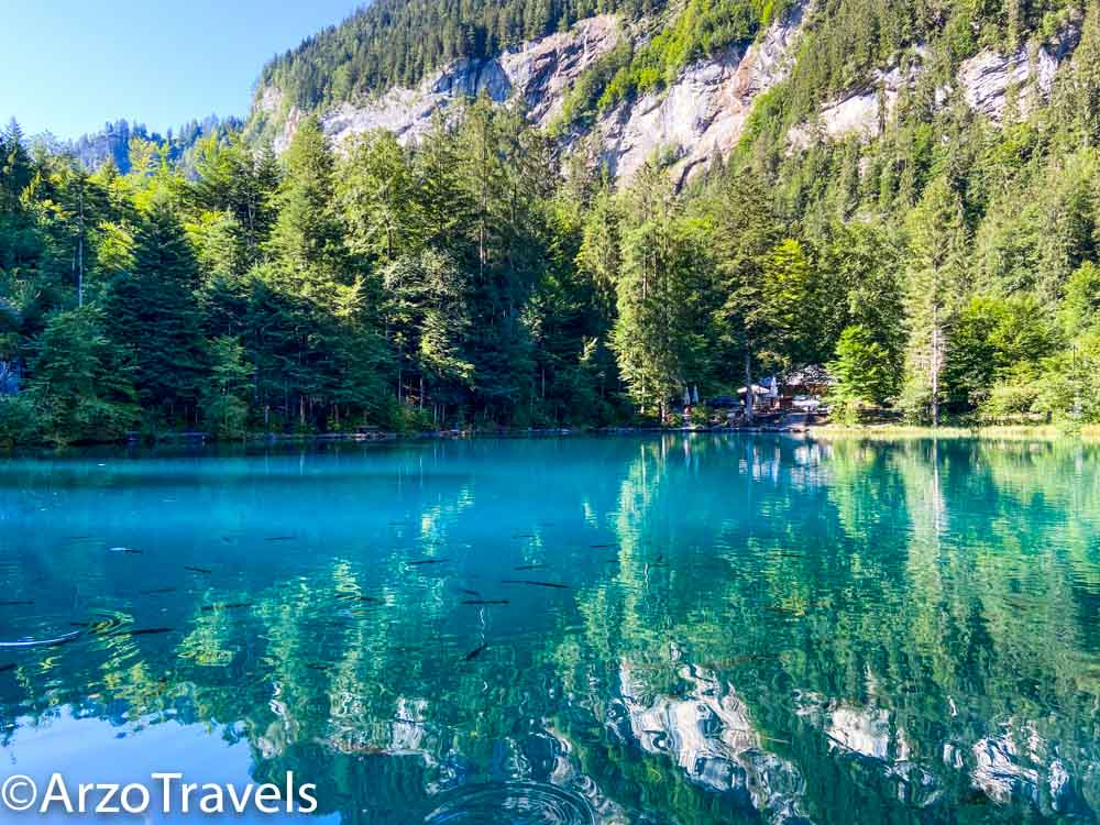Blausee lake in Kandersteg with Arzo Travels