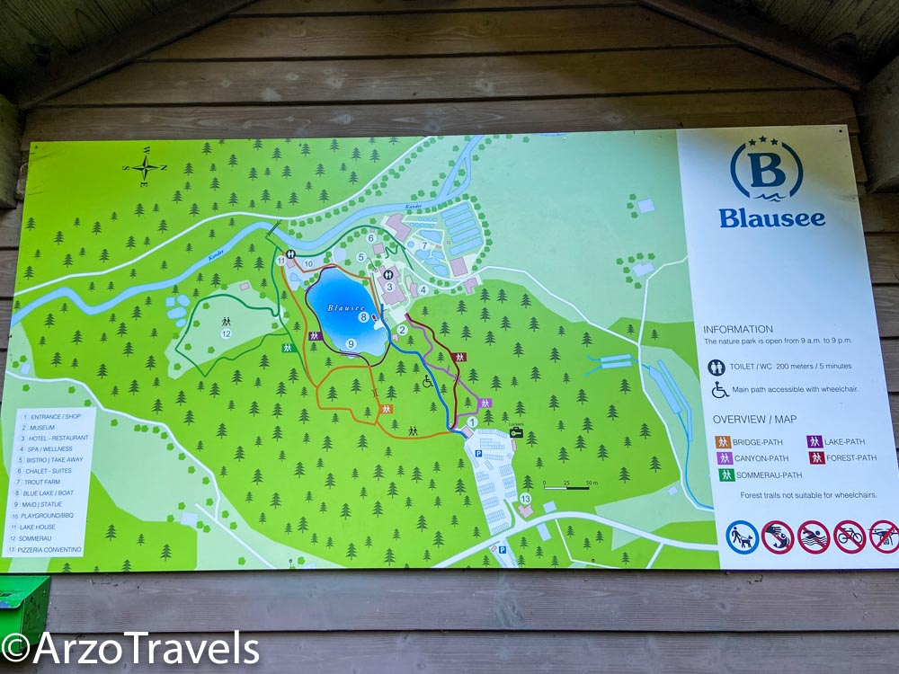 Blausee map