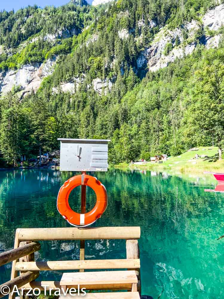 Boat station Blausee Arzo Travels