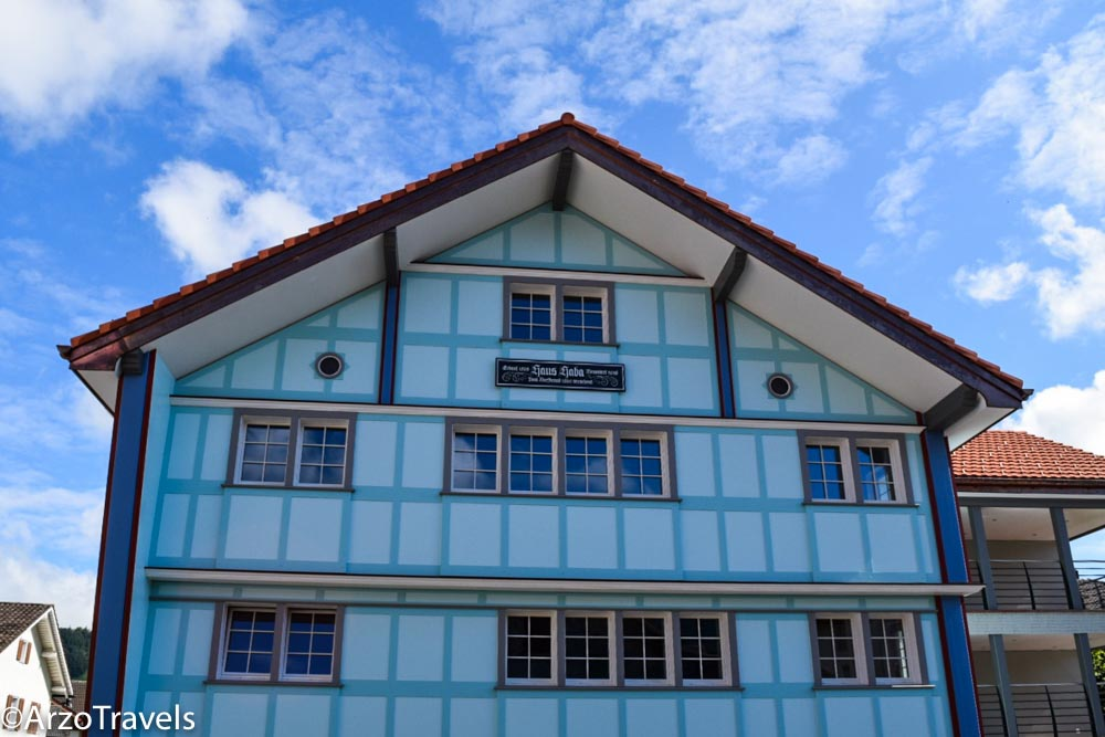 Colorful house in Appenzell, Arzo Travels