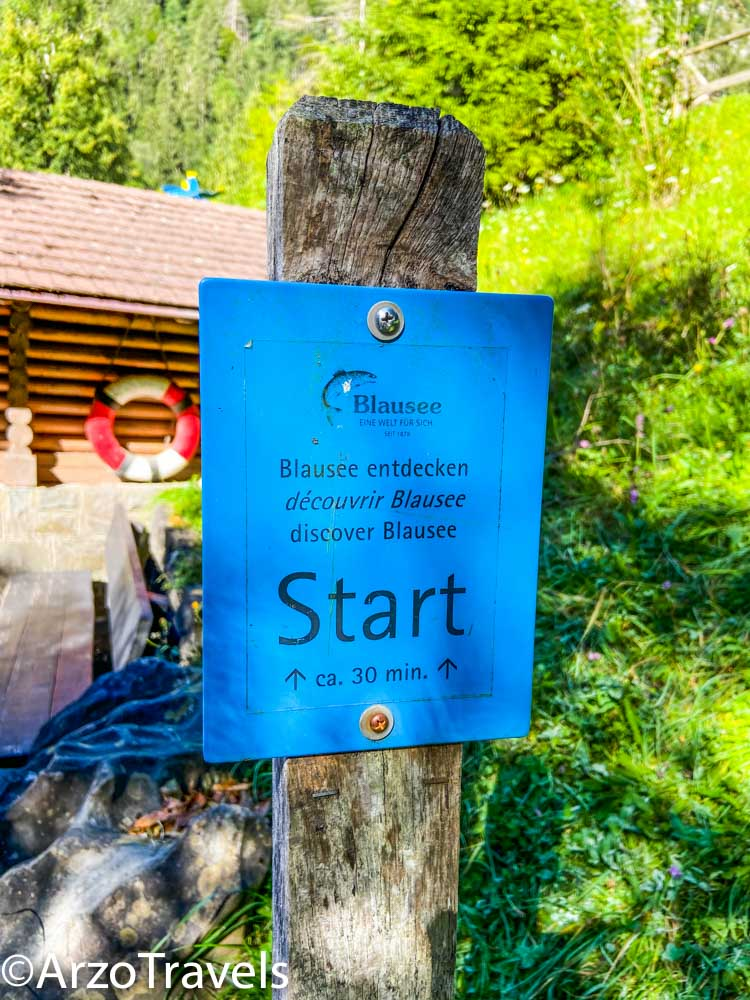 Hiking path Blausee with Arzo Travels