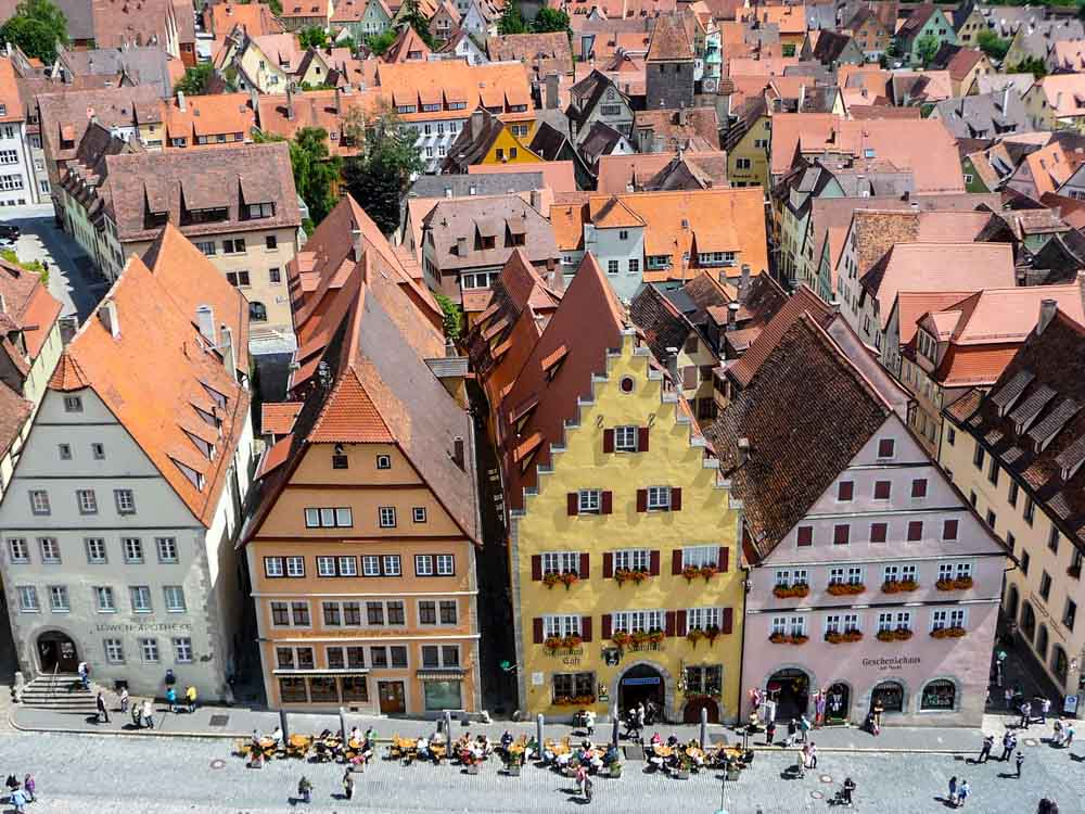Rothenburg ob der Tauaber, view from Town Hall Tower