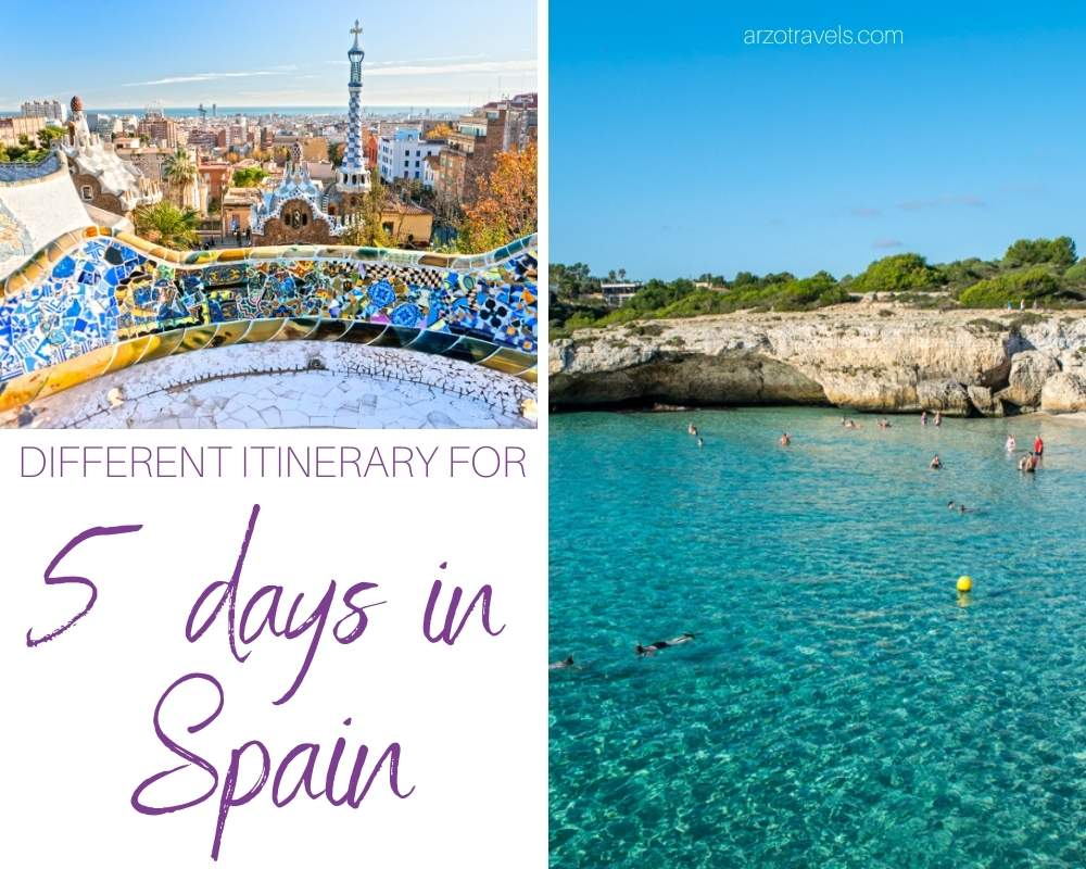 Best 5-day Spain itinerary, Arzo Travels