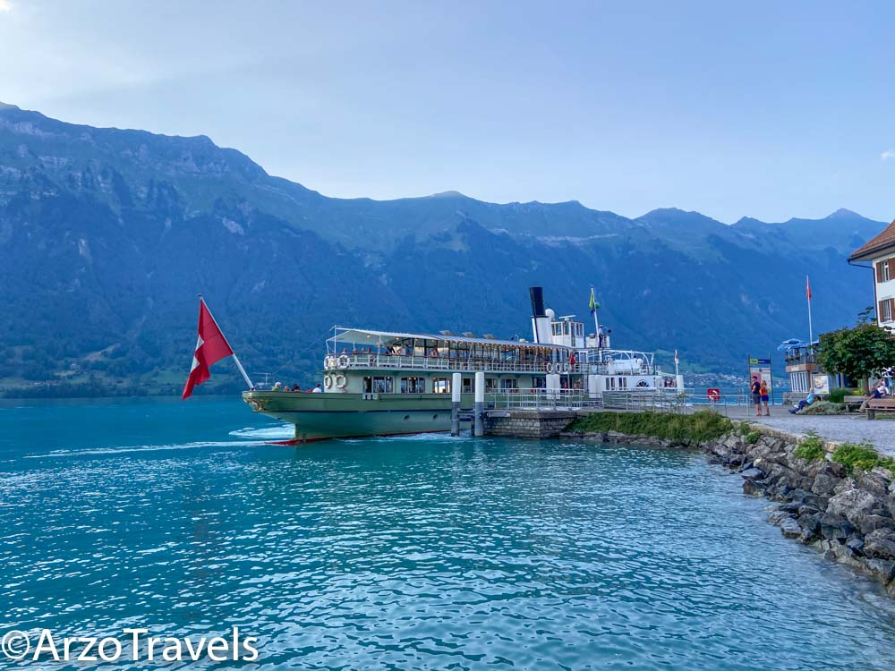 Boat tours from Iseltwald in Switzerland