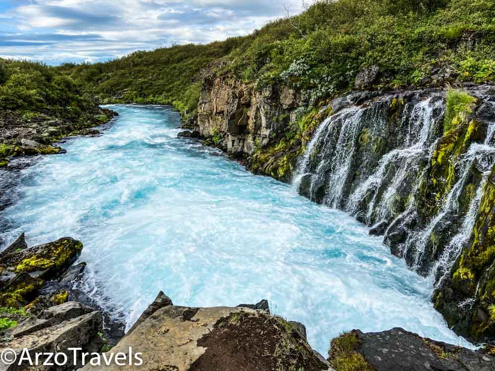 Bruarfoss waterfalls falls