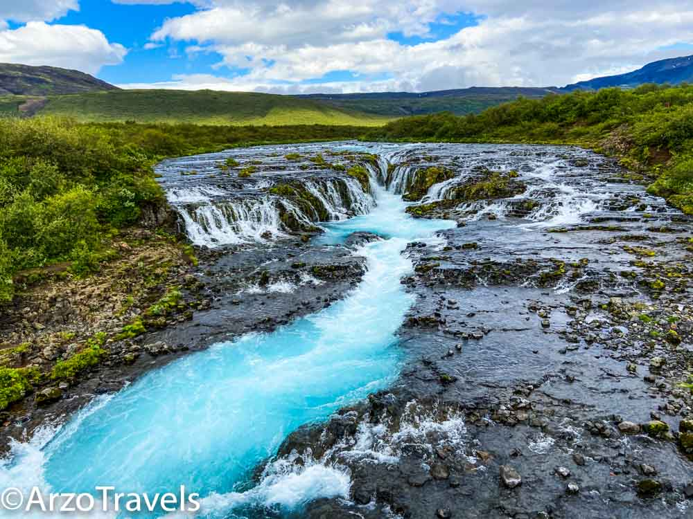 Bruarfoss waterfalls for image cover