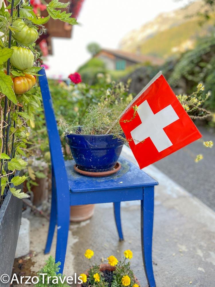 Flag Iseltwald in Switzerland