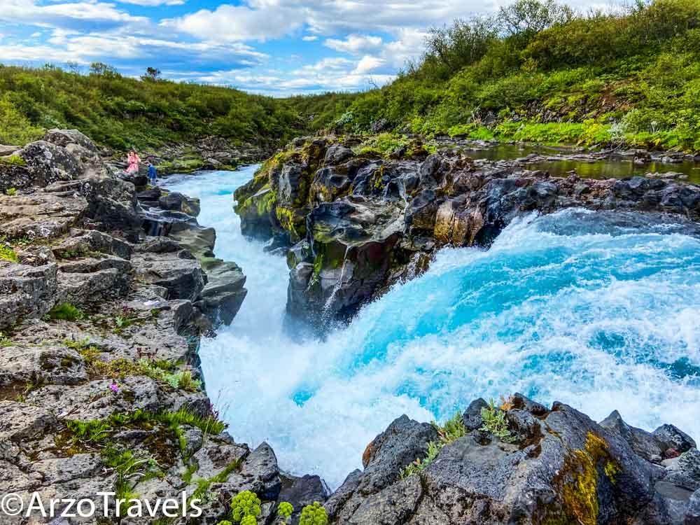 Bruarfoss waterfalls and more waterfalls