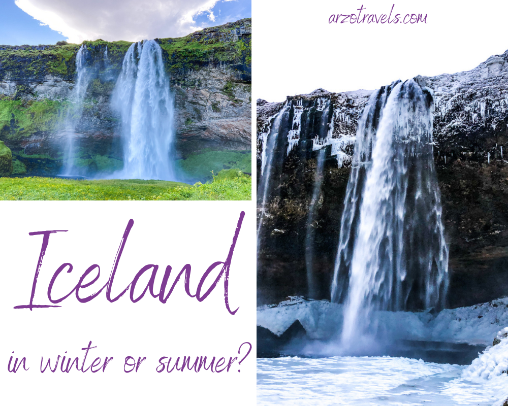 Iceland in winter or summer, Arzo Travels