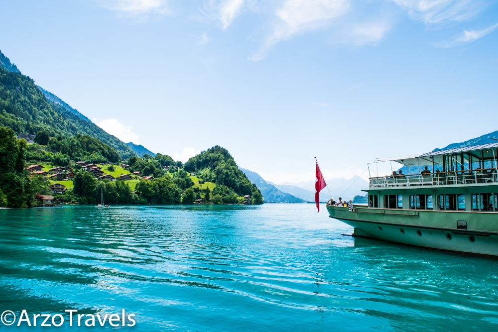 Iseltwald boat Switzerland Arzo Travels