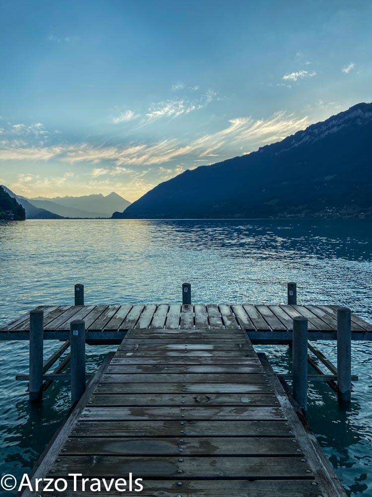Pier in Iseltwald in Switzerland