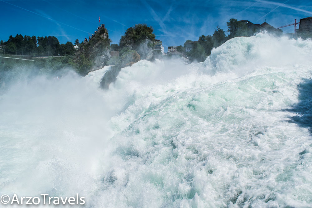 Powerful wateralls Rhine Falls