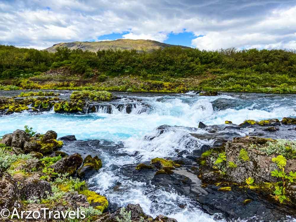 Unique waterfalls in Iceland, Bruarfoss waterfalls_