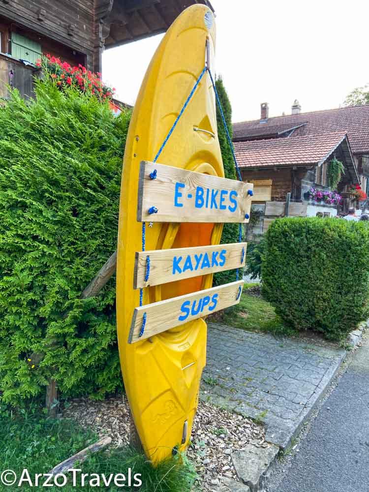 Water activities Iseltwald in Switzerland