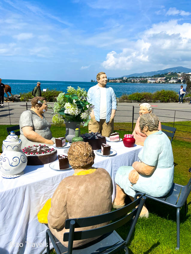Art pieces in Montreux