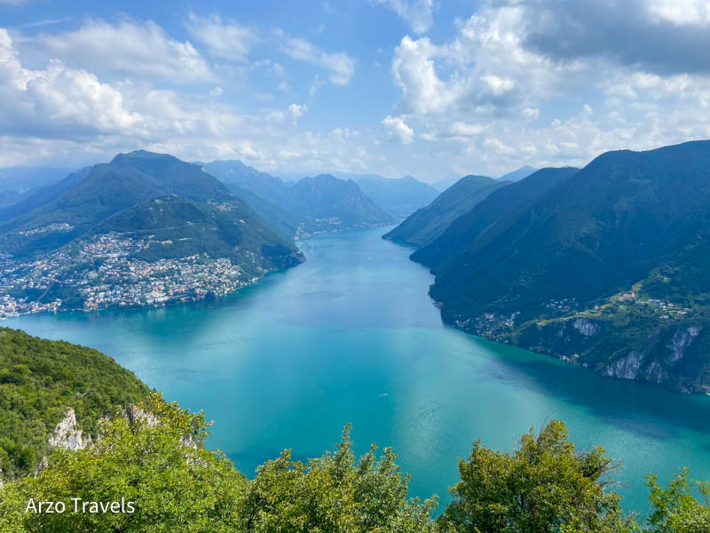 Lake Lugano from San Salvatore